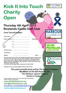 Golf entry form 2013